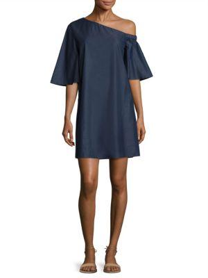 Dark Denim One Shoulder Dress
