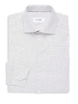 Dotted Cotton Button-Down Shirt