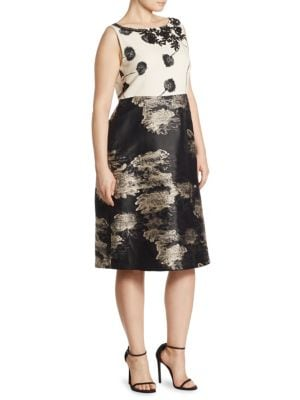 Demetra Jacquard Fil Coupe Dress