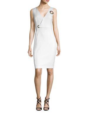 V-Neck Grommet Dress