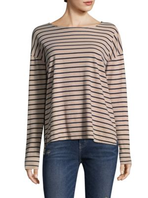 Striped Long Sleeve Cotton Tee