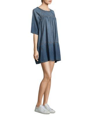 The Denim Raglan T-Shirt Dress