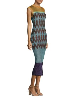 Zig Zag Jacquard Dress