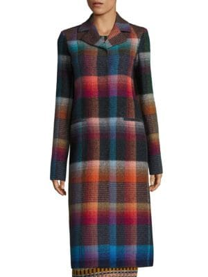 Checked Mohair Coat