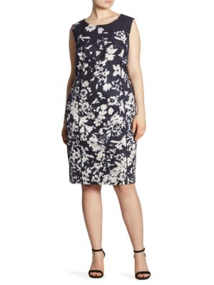 Evelyn Floral-Print Sheath Dress