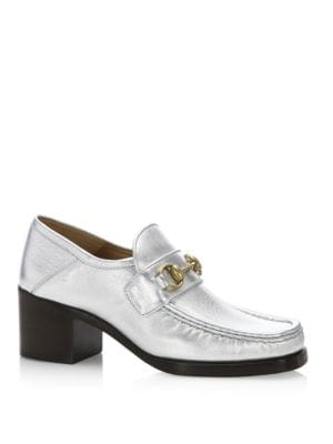 Vegas Metallic Leather Loafer Loafers