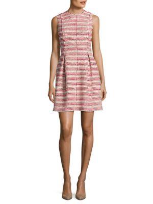 Optic Tweed A-Line Dress