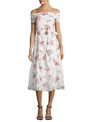 Marguerite Floral-Print Off-The-Shoulder Dress