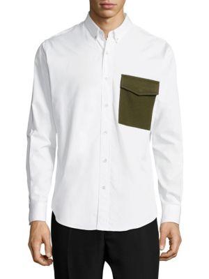 Pocket Cotton Button-Down Shirt