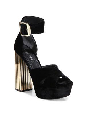 Lianna Velvet Platform Sandals
