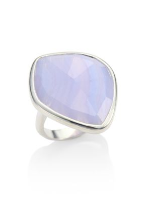 Siren Blue Lace Agate & Sterling Silver Ring