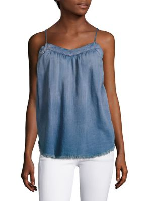 Kimberley Frayed Chambray Camisole by AG