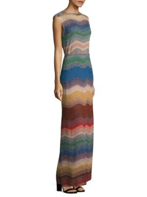 Ombre Wave Knit Gown