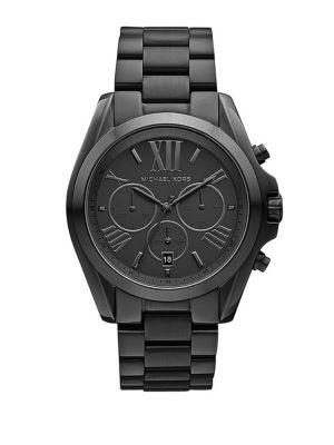 Ladies Bradshaw Black Ion-Plated Chronograph Watch