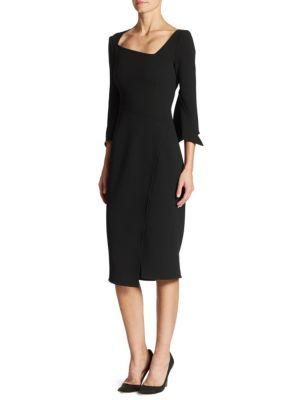 Asymmetric Split Sleeve Dress