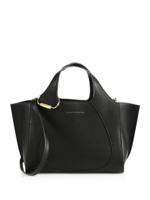 VICTORIA BECKHAM Leather Small Newspaper Hobo