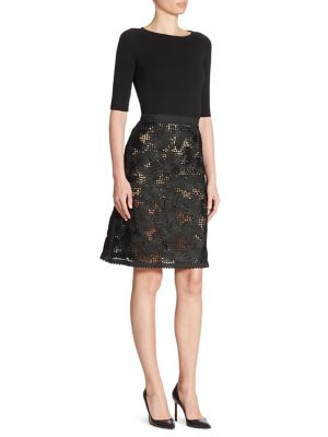 Wool & Silk Lace Dress