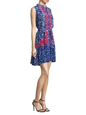 Tilly Tie-Front Silk Dress