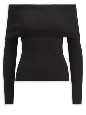 Off-The-Shoulder Wool Top by Ralph Lauren Collection
