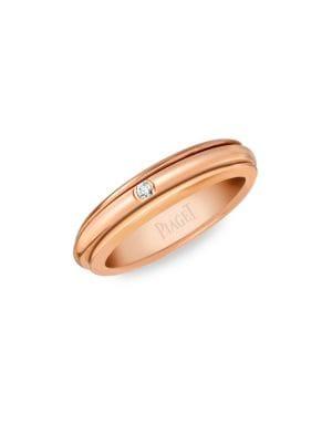 Possession Ultra-Thin Diamond & 18K Rose Gold Ring