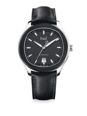 Polo S Limited Edition Stainless Steel & Leather Strap Watch