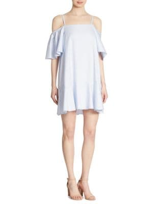 Clemence Cold-Shoulder Cotton Dress