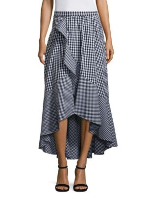 Clara High-Waist Ruffled Gingham Skirt by Prose & Poetry