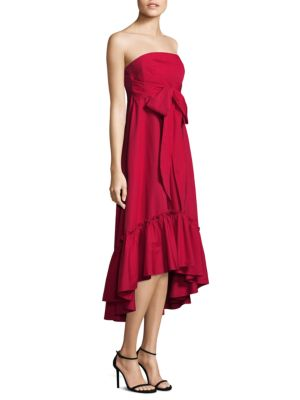 PROSE & POETRY Moss Strapless Self-Tie Cotton Dress