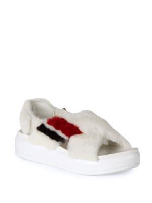 Shearling Sport Sandals