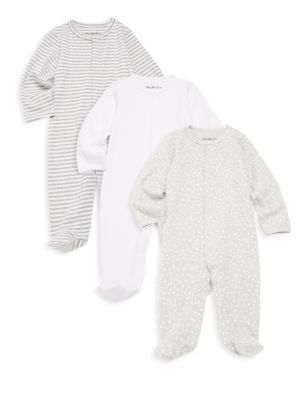Baby's Three-Piece Cotton Footie Set