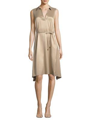 Sylvie Collared Silk Dress