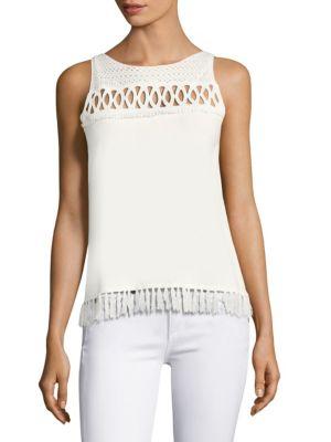 Raya Fringed Sleeveless Sweater