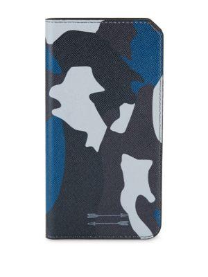 Saffiano Leather Folio iPhone 7+ Case