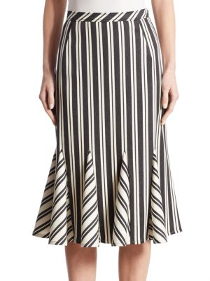 Crocus Striped Godet Skirt