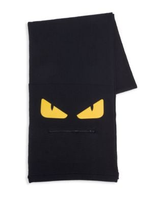 Monster Zip Mouth Wool Scarf