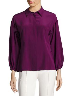 Silk Drop Shoulder Blouse