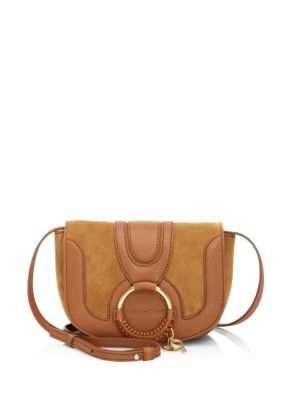 Hana Mini Leather Saddle Bag