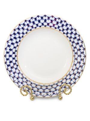 Cobalt Net Porcelain Dinner Plate