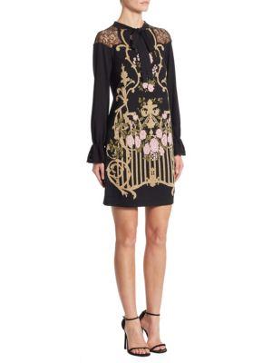 Lace Inset Wool Dress