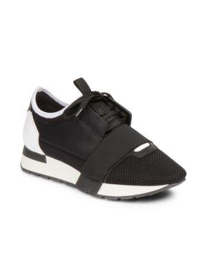 Race Mixed Media Sneakers