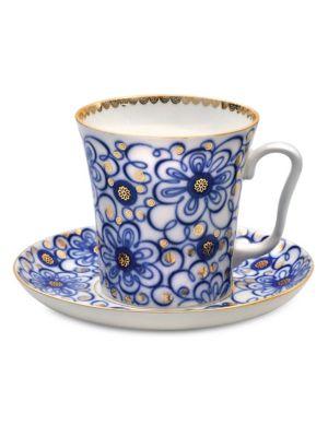 Bindweed Porcelain Mug & Saucer