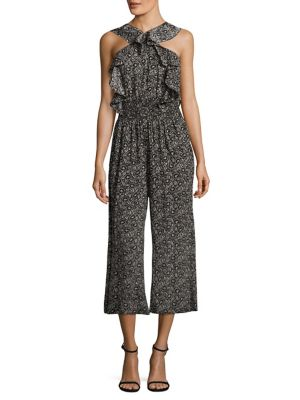 Sweet Briar Cropped Silk Jumpsuit