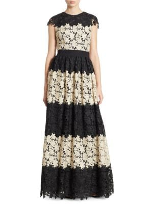 Noel Colorblock Lace Gown