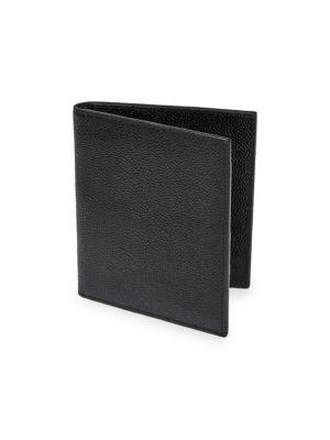 Pebble-Grain Leather Passport Holder