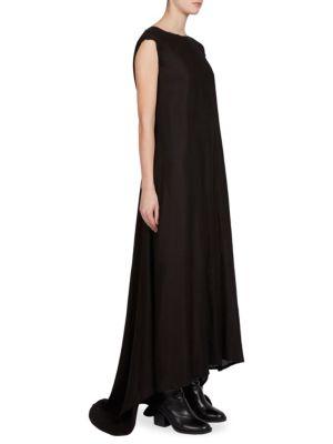 Wool Cap Sleeve Gown