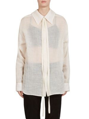 Lace Gauze Shirt by Ann Demeulemeester