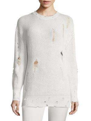 Polxa Distressed Cotton Sweatshirt