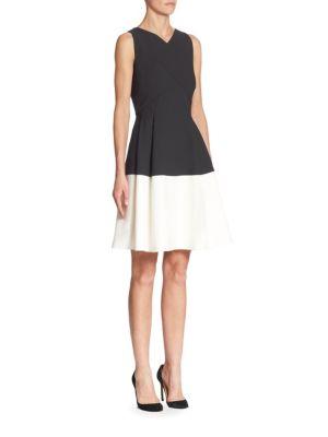 Fit & Flare Colorblock Dress