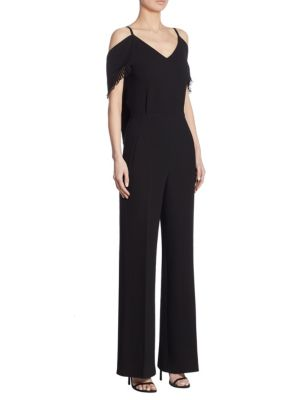 Burnstein Wool Cold Shoulder Jumpsuit