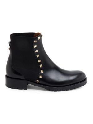 Beatle Rockstud Leather Booties